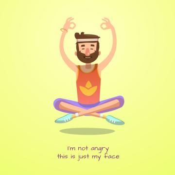 Hippy man meditating