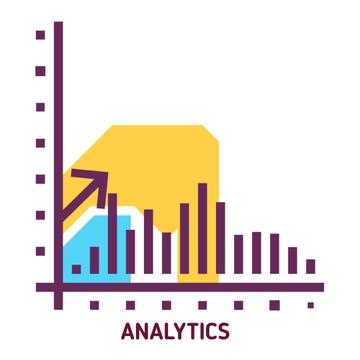 Business performance report icon