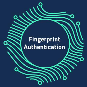 Digital fingerprint icon