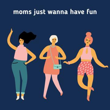 Happy dancing Moms