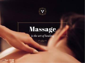 Massage is the art of healing