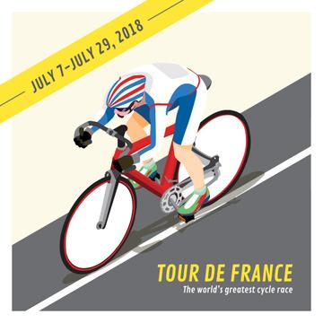 Tour de France Cyclist on road