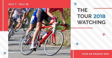 Tour de France 2018 postcard