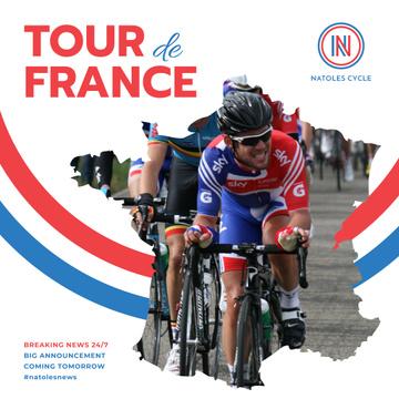 Tour de France Cyclists on road