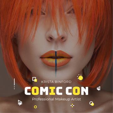 Comic Con makeup Artist promotion
