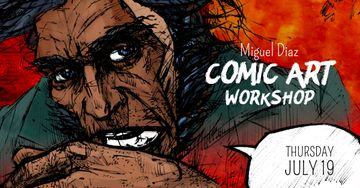 Comic Con workshop with Character picture