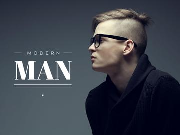 Modern man in glasses