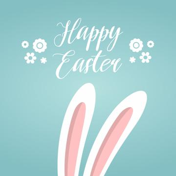 Cute bunny ears for Easter greeting