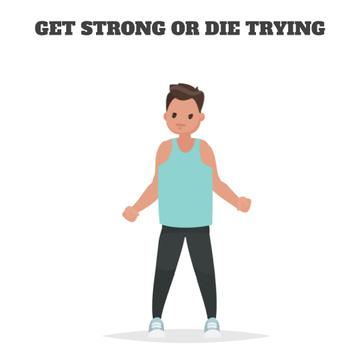 Man exercising in gym
