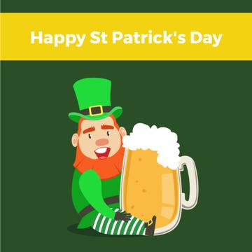 Saint Patrick's leprechaun with Beer