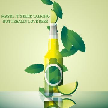 Beer bottle with lime