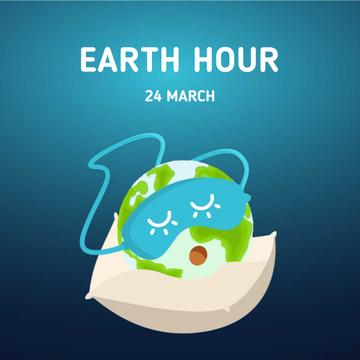 Sleeping Earth globe