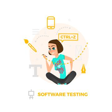 Businesswoman using Design tools on smart screen