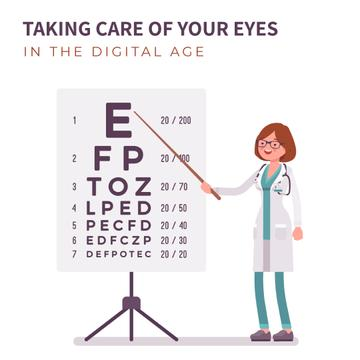 Female ophthalmologist in clinic