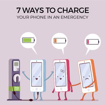 Cell phones charging