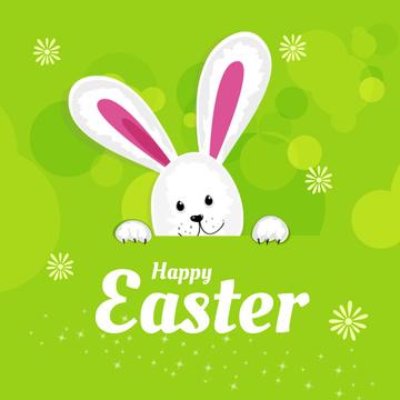 Cartoon Adorable Easter bunny