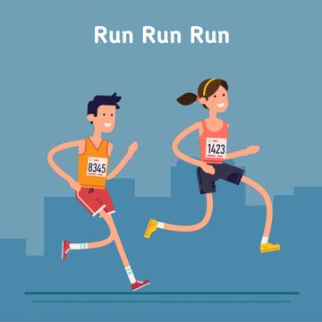 People running marathon race