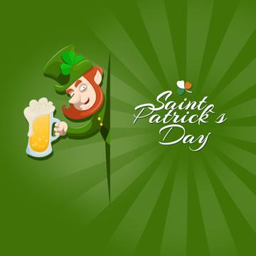Saint Patrick's leprechaun drinker