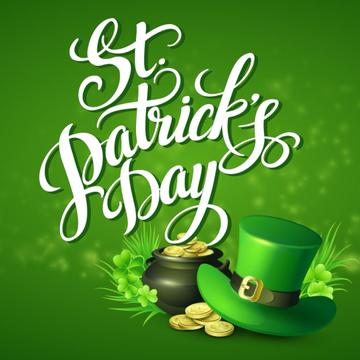 Hat and Coins for Saint Patrick's Day