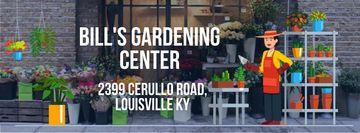 Florist Studio Ad with Gardener Working