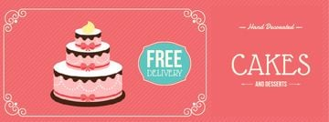 Bakery Ad with Layered Pink Cake