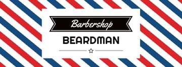 Barbershop Ad with Striped Lamp