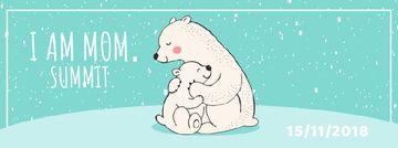 Polar Bear Hugging Its Mom