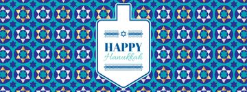 Happy Hanukkah greeting with Dreidel
