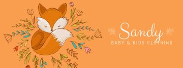 Baby store Ad Red Fox among flowers