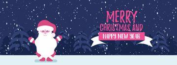 Christmas Greeting Funny Jumping Santa Claus