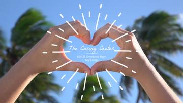 Caring Service Hands Showing Heart Sign