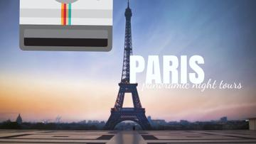 Tour Invitation with Paris Eiffel Tower