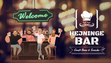 Bar Promotion Men Enjoying Drinks