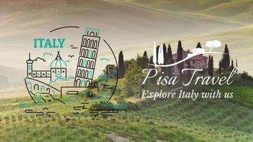 Tour Invitation Italy Famous Travelling Spots