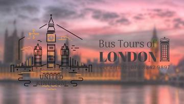 Tour Invitation with London Famous Travelling Spot