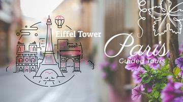 Tour Invitation with Paris Famous Travelling Spots