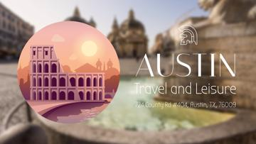 Tour Invitation with Rome Famous Travelling Spots