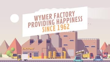 Factory Manufacture Ad Cars Driving by