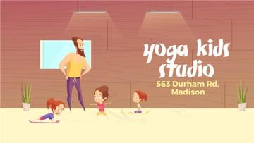 Kids Doing Yoga With Coach