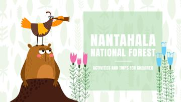 National Forest Funny Animals Exploring Nature
