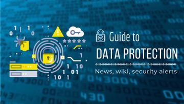 Data Protection Document Lock Icon in Blue