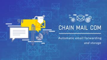 Email Marketing Business File Icon in Blue