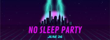 Night Party futuristic city light