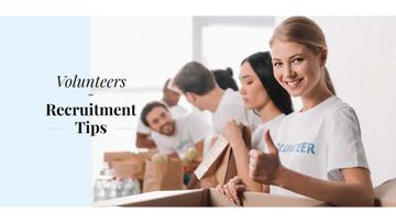 Volunteers recruitment tips