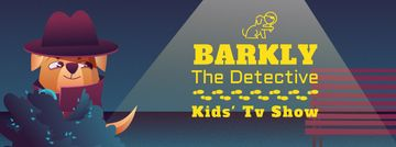Kids' TV Show with Cute dog detective