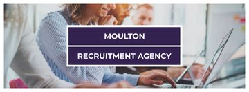Recruitment agency with people working on laptops
