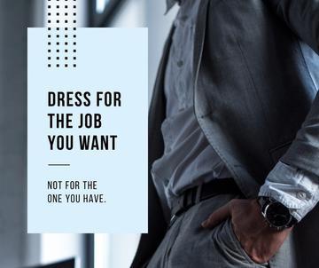 Fashion Quote Businessman wearing Suit in Grey