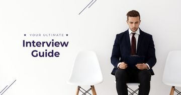 Young man in formal suit waiting for job interview