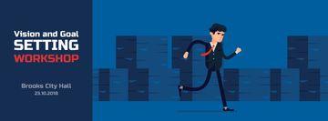 Running businessman in suit