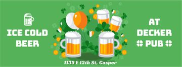 Saint Patrick's Day pub offer